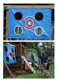 Captain America Disk Toss Game