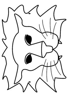 Masks - 999 Coloring Pages Diy For Kids, Crafts For Kids, Coloring Books, Coloring Pages, Lion Craft, Christian Preschool, Hobby World, Disney Artwork, Diaper Covers