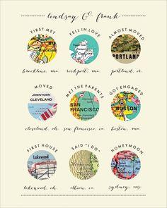 Custom Maps Print by bbinvitations on Etsy
