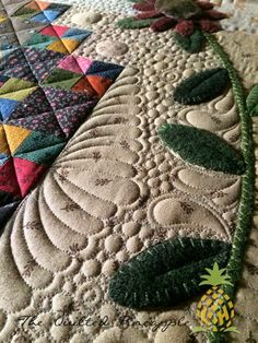 Glacier StarJoin Me at The Quilting BeeSunflower Gatherings - Primitive Gatherings SBOW 2014 Longarm Quilting, Free Motion Quilting, Hand Quilting, Machine Quilting, Sunflower Quilts, Pineapple Quilt, Primitive Quilts, Quilting Designs, Quilting Ideas