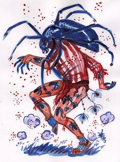 Heyoka spider, the sacred clown