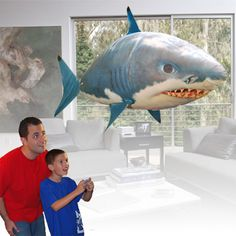 Sharks – coming to your lounge room this summer thanks to Air Swimmers