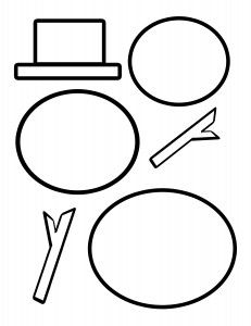 Snowman Template; visual perceptual, cutting, fine motor