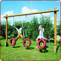 Home made playground equipment