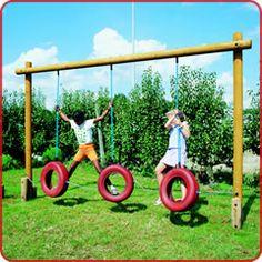 Home made playground equipment