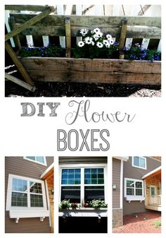 DIY Window Flower Boxes + Pallet Flower Planter | construction2style