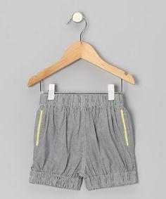 Look what I found on #zulily! Sailor Blue Pinstripe Bubble Shorts - Toddler & Girls #zulilyfinds