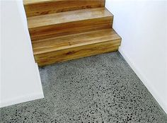 Learn how polished concrete floors are constructed and finished. Features the work of concrete polishers from around Australia. Polished Concrete Tiles, Bathroom Concrete Floor, Pebble Floor, Concrete Stairs, Wood Stairs, Concrete Furniture, Concrete Lamp, Kid Furniture, Urban Furniture