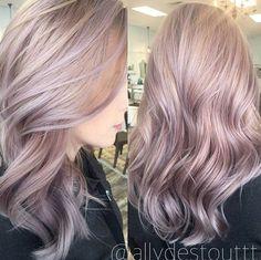 Lilac Blonde ... by @allydestouttt #behindthechair #pastelhair #lilachair #pastelblonde