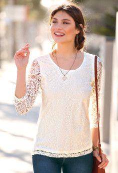Tričko s čipkou Lace, Women, Fashion, Moda, Fashion Styles, Racing, Fashion Illustrations, Woman