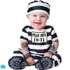 Disfraz de preso para bebé
