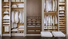 Downsview Kitchens and Fine Custom Cabinetry Modern Closet Organizers, Ikea Closet Organizer, Closet Storage, Wardrobe Organisation, Closet Organization, Custom Kitchen Cabinets, Custom Cabinetry, Clothes Cabinet, Open Wardrobe