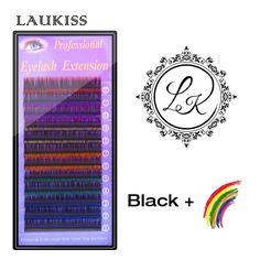 LAUKISS Fake Eyelashes Six Colors Mix Faux Cils Natural Thickness 0.15mm Length 11mm Eyes Lashes False Eyelashes Natural