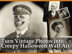 DIY Halloween: DIY Turn Vintage Photos into Creepy Halloween Wall Art: DIY Halloween Decor