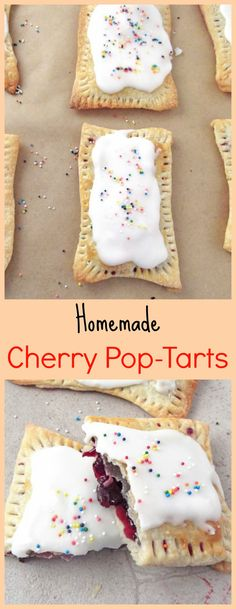 Flaky pie crust surrounding sweet cherry filling and topped with a simple glaze. Perfect!