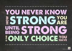 Life After NICU: Free Printable :: You never know how strong you are...