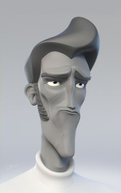 Daily sketch in 3d, character design with rapid 3d sculpt