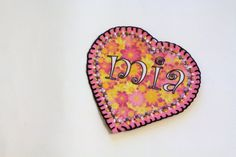 Flower Power Heart Patch Personalized Hand by MaineCoonCrafts, $12.00