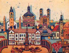 Atelier Gerhard Hofmann, Farbradierungen - Städte Rheinland-Pfalz