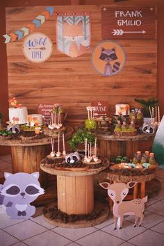 60 Ideas Baby Shower Ideas Bbq Theme For 2019 Wild One Birthday Party, 1st Boy Birthday, Forest Party, Woodland Party, Forest Baby Showers, Fox Party, Baby Shower Themes, Shower Ideas, Shower Baby