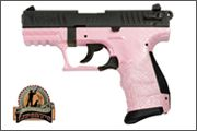 Product: P22 Pistol - Pink Carbon Fiber Finish....this is my handgun that I love dearly!  Perfect for me and my special need......right-handed but left-eye dominant..makes shooting interesting but this gun makes it possible for me!