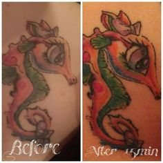 This is one of my favorite things about It Works Defining Gel! Not only does it help keep your skin tight, moisturized and even help with scars, but it also gives new life to those faded tattoos! http://shannoncoldironwraps.com