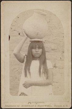 PAPAGO GIRL , 1885