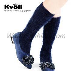 Mohair Knitting Mid-calf Boots