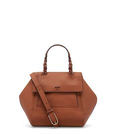 The perfect balance of structure and easy slouch: The Half-Moon Small Satchel is a compact yet roomy shape — and one of Tory's favorite styles.Made of supple pebbled leather, it&rsqu