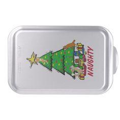 Naughty Kitties Cake Pan http://www.zazzle.com/naughty_kitties_cake_pan-256059904648584427?rf=238271513374472230  #christmas  #christmasdécor