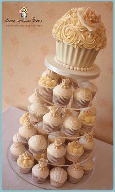 Giant cupcake idea for wedding