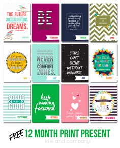 Free 12 month print present. 12 prints to give to someone you love!