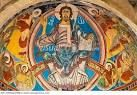 An example of romanesque images of Jesus in churches around the world