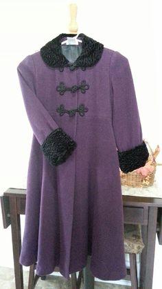AMERICAN GIRL SUGARPLUM FAIRY Rare Retired Winter Wool Dress Coat sz 8 Purple  #AmericanGirl #BasicCoat #DressyEverydayHoliday