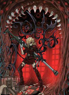 Seras Redraw by bezzalair on DeviantArt Hellsing Cosplay, Hellsing Alucard, Manga Art, Manga Anime, Anime Art, Hellsing Ultimate Anime, Seras Victoria, Hanya Tattoo, Character Art