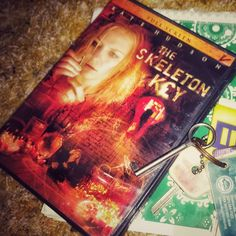 """The One Who Put Up A Good Fight #30dayscreamqueenschallenge Kate Hudson in The Skeleton Key. I still feel for her every time. She really did put up SUCH a good fight. LeSigh.  I also included a key from Greece. When I spent a semester there back in 2006 I took a key from a cabinet in our hotel in Athens.  You can tell the DVDs that have been in my personal collection the longest by looking for a """"V"""" or """"Val"""" on them haha. That's from last decade when I lived in the dorms at UMSL. My room was…"""