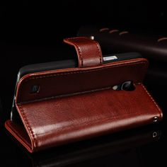Vintage Wallet Stand Design Leather case for Samsung Galaxy S4 mini i9190 New Luxury Phone Bag. Click visit to buy #WalletCase #Case