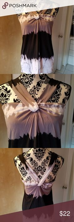 NWOT Sleeveless top Twist front detailing, gorgeous colors,  and perfect for a summer evening out! Axcess Tops