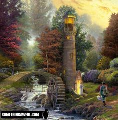 Tom Kinkade Lighthouses Paintings | kinkade lighthouse