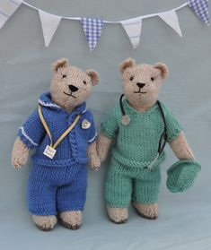 NHS Charity Knitting Pattern Bear Medic Doctor Nurse | Etsy Doctor White Coat, Doctor Scrubs, Knitting For Charity, Scrub Caps, Dress With Cardigan, Etsy Uk, Picture Show, Knitting Patterns, Medical