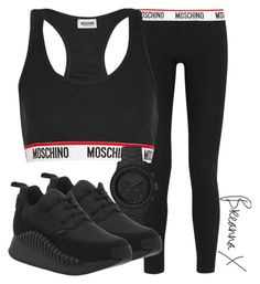 A fashion look from November 2015 featuring Moschino, Moschino leggings and Underground sneakers. Browse and shop related looks. Swag Outfits For Girls, Cute Swag Outfits, Chill Outfits, Sporty Outfits, Teenager Outfits, Athletic Outfits, College Outfits, Cute Sweatpants Outfit, Accesorios Casual