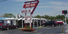 The Hob Nob was featured on Food Network Channel - Great burgers and breakfasts too~ Sarasota Fl