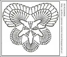PATRONES=GANCHILLO = CROCHET = GRAFICOS =TRICOT = DOS AGUJAS: GANCHILLO SU GRAFICO = CROCHET SU PATRON = FLORES TEJIDAS A CROCHET SU GRAFICO...