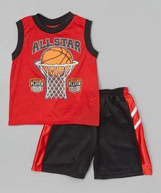Red 'All Star' Tank & Shorts - Infant, Toddler & Boys by KidZone #zulily #zulilyfinds $ 7.99