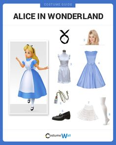 Dress up in a costume like Alice from Walt Disney's movie Alice in Wonderland before chasing down the White Rabbit.
