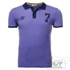 Polo Umbro Heritage Seven Roxo - Fut Fanatics - Compre Camisas de Futebol  Originais de Times do Brasil e Europa 3b1e02b008bea
