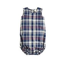 Baby one-piece in plaid