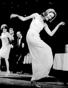 Lauren Bacall dancing in her first Broadway show Cactus Flower, 1965