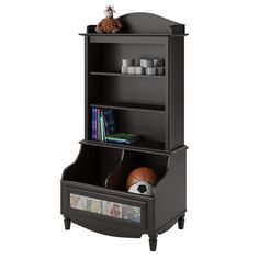 Avery Open Storage Bookcase in Dark Russet Cherry | Nebraska Furniture Mart
