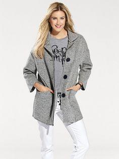 Dámský kabát pro každodenní nošení BC BEST CONNECTIONS BY HEINE - šedá